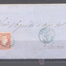 Sellos: 1857.- LA RODA (ALBACETE) A VALENCIA. Lote 31663539
