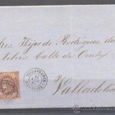 Sellos: 1863.- VILLAFRANCA (BARCELONA) A VALLADOLID. Lote 31798008