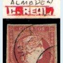 Sellos: ISABEL II - EMISION 1856 - 4 CU.(TIPO II) FECHADOR TIPO II DE ALMADEN (C.REAL) EDIFIL Nº 48 A. Lote 32378495