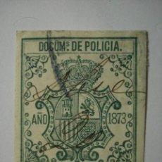 Sellos: FISCAL DOCUMENTOS DE POLICIA- COMPARA PRECIOS - 2 PESETAS 50 CTMOS - AÑO 1873 USADO. Lote 32401291