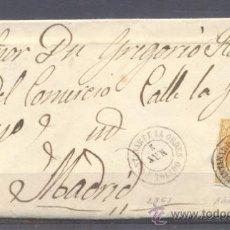 Sellos: 1861.- QUINTANAR DE LA ORDEN (TOLEDO) A MADRID. Lote 33153514