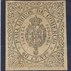 Sellos: SELLO PARA LIBROS DE COMERCIO 60 CTS ISABEL II NUEVO(*). Lote 33440720