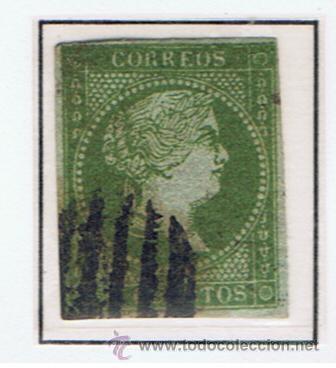 ISABEL II 1855 EDIFIL 39 VALOR 2012 CATALOGO 190.-- EUROS (Sellos - España - Isabel II de 1.850 a 1.869 - Usados)