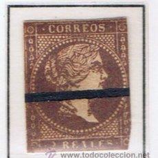 Sellos: ISABEL II 1855 EDIFIL 46 BARRADO VALOR 2012 CATALOGO 33 EUROS. Lote 34098240