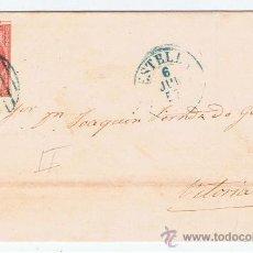 Sellos: ENVUELTA CIRCULADA 1857 DE ESTELLA NAVARRA A VITORIA. Lote 34405315