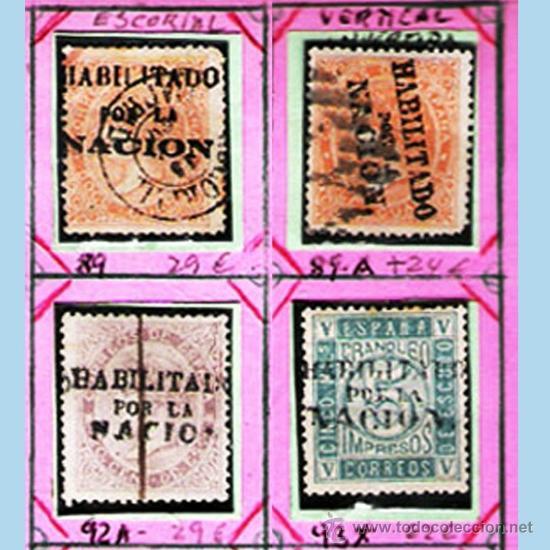 Sellos: 1868. GBNO. PROVISIONAL -HAB. POR LA NACION-19 SELLOS,NUEVOS,USADOS +VARIANTES DE MADRID.Cat.+1800 € - Foto 2 - 34409061