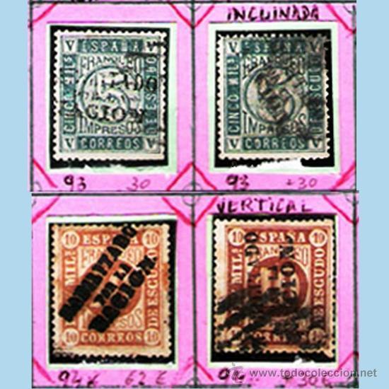 Sellos: 1868. GBNO. PROVISIONAL -HAB. POR LA NACION-19 SELLOS,NUEVOS,USADOS +VARIANTES DE MADRID.Cat.+1800 € - Foto 3 - 34409061