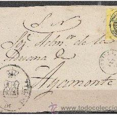 Sellos: 2032-CARTA ANTIGUA,FRENTE PLICA JUDICIAL DE ADUANA DE SEVILLA 4-9-1860 A AYAMONTE HUELVA, MARCAS:FEC. Lote 35052603