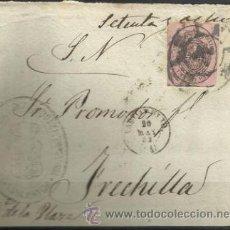 Sellos: A308-HISTORIA POSTAL CARTA FRONTAL PLICA VALLADOLID A FRECHILLA 20-5-1863.VARIAS MARCAS :RUEDA CARRE. Lote 35601726