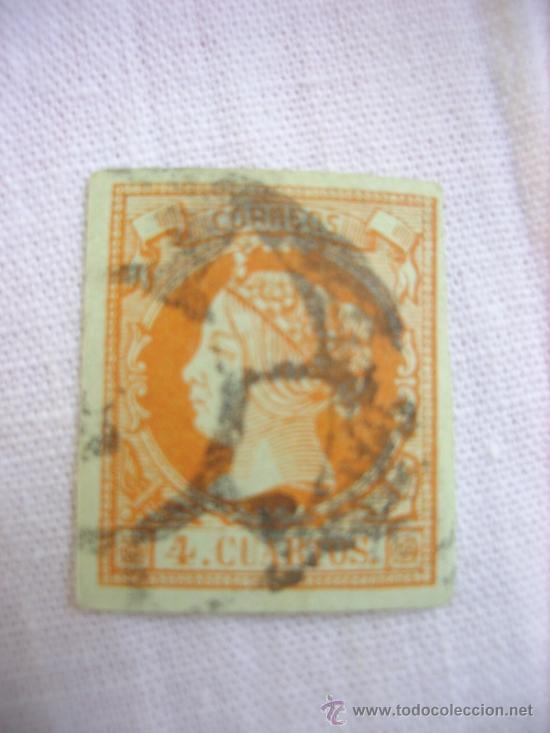 EDIFIL 64 ISABEL II USADO 4 CUARTOS 1864 (Sellos - España - Isabel II de 1.850 a 1.869 - Usados)