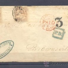 Sellos: 1868.- BARCELONA A BROWNSVILLE (USA). Lote 35791621