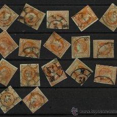 Sellos: 1860 LOTE RUEDA CARRETA ED 52 ISABEL II 4C ( 17 SELLOS). Lote 67018522
