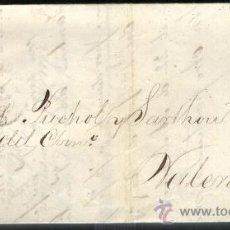 Sellos: SELLO SOBRE CARTA 4 CUARTOS 1864 MATASELLOS PARRILLA Nº2 BARCELONA. Lote 36796201
