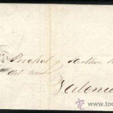Sellos: SELLO SOBRE CARTA 4 CUARTOS 1864 MATASELLOS PARRILLA Nº2 BARCELONA. Lote 36796393
