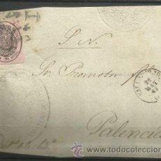 Sellos: A467-HISTORIA POSTAL CARTA FRENTE PLICA SEVILLA A PALENCIA 22 -5-1863 EXCELENTE MARCA ADUANA DE SE. Lote 37538281