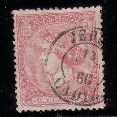 Sellos: ESPAÑA 80 - AÑO 1866 - ISABEL II. Lote 37554518