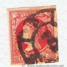 Sellos: ISABEL II RUEDA CARRETA 3 CADIZ 1860 SOBRE EDIFIL 56 . Lote 38304919