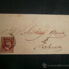 Sellos: ENVUELTA CIRCULADA 1853 A VALENCIA CON FECHADOR BAEZA. Lote 39124567