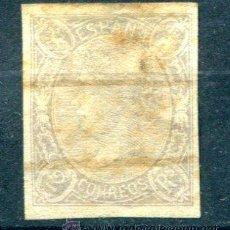 Sellos: EDIFIL 73 S. 2 REALES ISABEL II, AÑO 1865. BARRADO. BARRAS MUY BORRADAS.. Lote 39221045