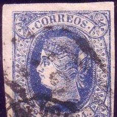 Sellos: ESPAÑA. (CAT. 68/GRAUS 84-I). 2 REALES. FALSO POSTAL TIPO I. MAT. PARRILLA Y FECHADOR DE BARCELONA.. Lote 39373544