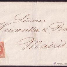 Sellos: 1859.CUBIERTA DE ALICANTE A MADRID.FRANQUEO DE 4 CTOS. MAT.AMBULANTE DE MADRID.DORSO MARCA MARÍTIMA.. Lote 24866691