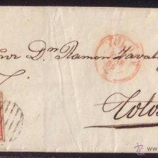 Sellos: ESPAÑA.(CAT.33).1855.CARTA DE CORREO INTERIOR DE TOLOSA.FRANQ. 4 CTOS.DOBLE PORTE.RARÍSIMO FRANQUEO. Lote 25855351