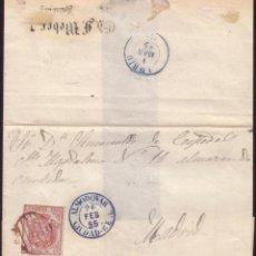 Sellos: 1855.CUBIERTA DE HAMBURGO (ALEMANIA) A MADRID.ENCAMINADA HASTA ESPAÑA. ALMODOVAR/CIUDAD REAL AZUL.RR. Lote 26899903