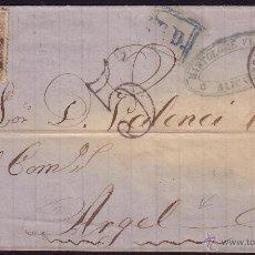 Sellos: ESPAÑA. (CAT. 92). 1868. CARTA DE ALICANTE A ARGEL (ARGELIA). RARÍSIMO DESTINO Y FRANQUEO.. Lote 26169707