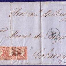 Sellos: ESPAÑA.(CAT.44 (5)).1856. CARTA. 4 C. CÁDIZ. FRANQUEO DE CINCO PORTES. MUY RARO FRANQUEO. MAGNÍFICA.. Lote 26562783