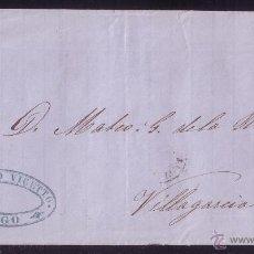 Sellos: (CAT.75A).1865.CUBIERTA DE VIGO A VILLAGARCÍA.4 CTOS.MAT.TIPO II DE *VIGO/PONTEVEDRA*.MUY RARO.LUJO.. Lote 26719935