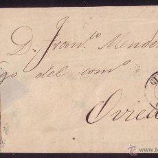 Sellos: 1857.CUBIERTA DE GIJÓN A OVIEDO.FRANQUEO DE 4 CTOS.CON DOS FACIALES.MAGNÍFICA Y MUY RARA.. Lote 26858899