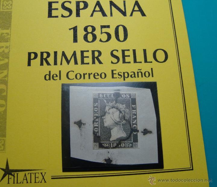 Sellos: PRIMER SELLO ESPAÑOL EDIFIL 1 MATASELLO ARAÑA NEGRA - Foto 2 - 40184268