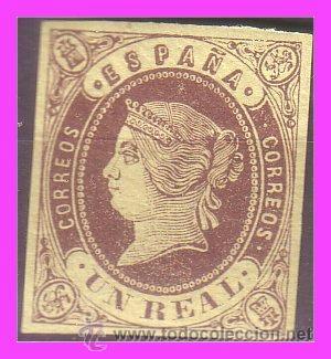 1862 ISABEL II, EDIFIL Nº 61 * (Sellos - España - Isabel II de 1.850 a 1.869 - Nuevos)