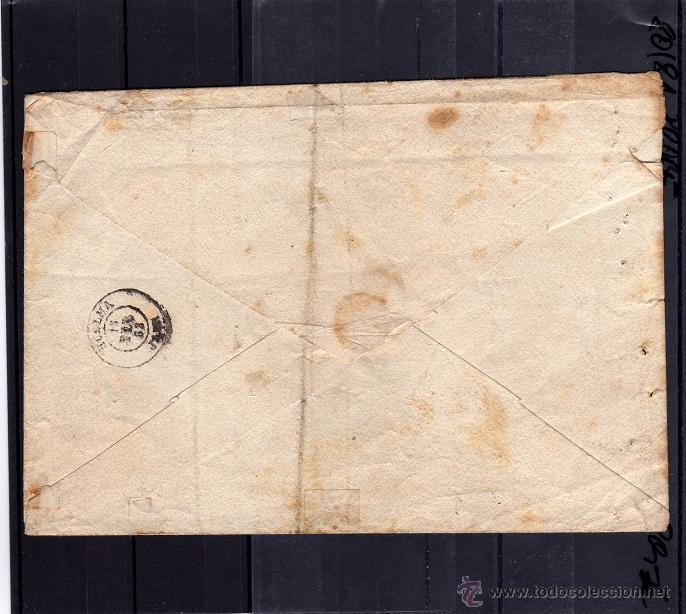 Sellos: CARTA DE 1863, ENVIADA DE JAEN A HUELMA, SELLO CORREO OFICIAL UNA ONZA, SALIDA Y LLEGADA - Foto 2 - 40458650