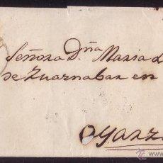 Sellos: 1859. CARTA DE TOLOSA A OYARZUN. 4 CTOS. MAT. TIPO I DE TOLOSA. NO RESEÑADO EN CARTA. MAGNÍFICA.. Lote 27597510