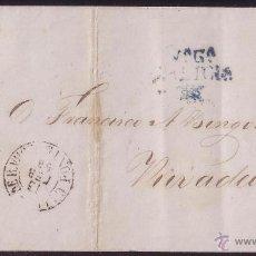 Sellos: 1858.CUBIERTA D VILLAGARCIA A RIVADEO. FRANQUEO D 4 C. MAT. REJILLA. MARCA PREFILATÉLICA.RARA.. Lote 22786635