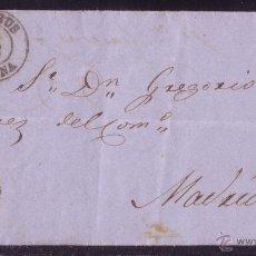 Sellos: ESPAÑA.(CAT.52).1861.CARTA DE REUS A MADRID.FRANQUEO 4 CTOS. MAT. FECHADOR DE, REUS/TARRAGONA. LUJO.. Lote 25472954
