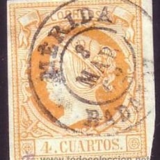 Sellos: ESPAÑA. (CAT. 52). 4 CTOS. MAT. FECHADOR TIPO II DE, MÉRIDA (BADAJOZ). MUY BONITO.. Lote 182466663
