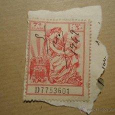 Sellos: ANTIGUO SELLO FISCAL 1949 7ª CLASE 3 PTAS CODIGO CIVIL , UNA GRANDE LIBRE. Lote 41410418