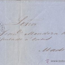 Sellos: ENVUELTA CIRCULADA DE CANGAS DE ONIS (ASTURIAS) A MADRID. 4 CUARTOS. 1862. Lote 41418565