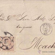 Sellos: ENVUELTA CIRCULADA TERUEL (ARAGÓN) RUEDA DE CARRETA. PAREJA 50 MILÉSIMAS. 1 DIC 1968.. Lote 41432650