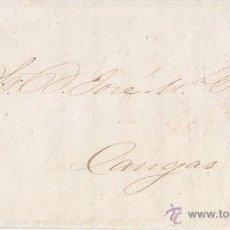 Sellos: ENVUELTA DE OVIEDO A CANGAS DE ONÍS. 1861. 4 CUARTOS AMARILLO. RUEDA DE CARRETA. Lote 41548572
