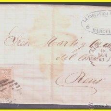 Sellos: 1867 ISABEL II, CARTA DE BARCELONA A REUS, EDIFIL Nº 96. Lote 42235227