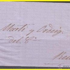 Sellos: 1867 ISABEL II, CARTA DE BARCELONA A REUS, EDIFIL Nº 96. Lote 42235296