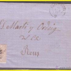 Sellos: 1867 ISABEL II, CARTA DE BARCELONA A REUS, EDIFIL Nº 96. Lote 42235610