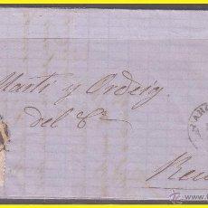 Sellos: 1867 ISABEL II, CARTA DE BARCELONA A REUS, EDIFIL Nº 96. Lote 42235663