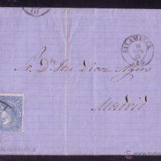 Sellos: ESPAÑA.(CAT. 75).1865.CARTA DE SALAMANCA A MADRID.4 CTOS.MAT.RUEDA CARRETA MODIFICADA Nº 40.BONITA.R. Lote 25786632