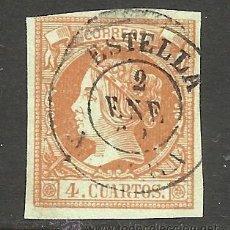 Sellos: 1860. ISABEL II USADO EDIFIL Nº 52 FECHADOR ESTELLA (NAVARRA). Lote 43408739