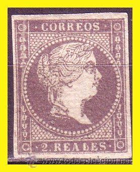 1855 ISABEL II EDIFIL Nº 46 (*) LUJO (Sellos - España - Isabel II de 1.850 a 1.869 - Nuevos)