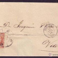 Sellos: ESPAÑA. (CAT. 48). 1859. CUBIERTA DE ARAYA A VITORIA. CIRCULADA PRIVADAMENTE. MUY RARA.. Lote 45084253